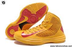 Buy New Nike Lunar Hyperdunk 2013 Basketball Shoes University Gold University Red Sports Shoes Shop