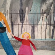 untitled children's book illustration by Beatrice Cerocchi (contemporary), Italian (campsis)