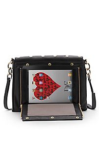 DVF   Metro connect leather bag in black. Carry your iPad in style with the New DVF Metro Connect. With a sleek, secured zip pocket made just for your favorite gadget