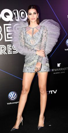 Kriti Sanon showed off her angelic side in this silver embellished dress she opted to walk the night of fashion. Bollywood Actress Hot Photos, Bollywood Girls, Beautiful Bollywood Actress, Most Beautiful Indian Actress, Bollywood Fashion, Indian Celebrities, Bollywood Celebrities, Hot Actresses, Indian Actresses