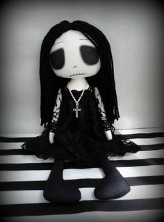 Emo Gothic Art Rag Doll - Misery