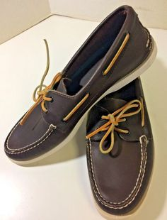 965d8736a1a0 Men s Original Sperry Top-sider Size 11 Brown Leather Boat Deck Casual Shoes   SperryTopSider