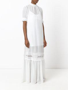 McQ Alexander McQueen lace detail full length dress