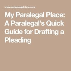 My Paralegal Place: A Paralegal's Quick Guide for Drafting a Pleading Law School, Back To School, Career Goals, Career Ideas, Paralegal, School Hacks, Eagle, Templates, Money