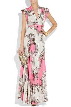 Paul & Joe Flaubert floral-print silk-crepe maxi dress ; I would so wear this if I was taller