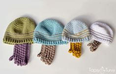 Crochet Beard Hat Free Pattern - ALL Sizes