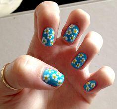 70 Fotos de uñas decoradas para la primavera – Spring Nail art   Decoración de Uñas - Manicura y Nail Art - Part 7