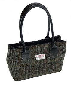 f2af9a41ed Ladies Harris Tweed Green Check Classic Handbag LB1003 COL28