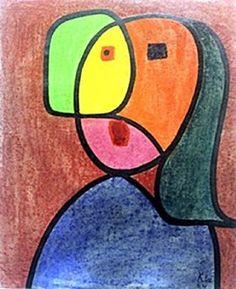 Portrait of a Woman Paul Klee 1924'
