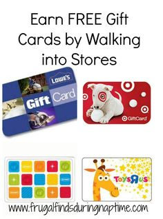 Earn Gift Cards just by walking into stores. This post tells you how to do this.