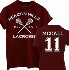 BEACON HILLS LACROSSE MENS T SHIRT TEEN WOLF STILINSKI STILES BUNDLE LAHEY TOP