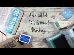 Archival Ink DIY Stencil Masking - Bible Art Journaling Challenge Week 26 - Rebekah R Jones