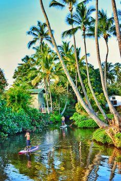 Wailua River State Park, Kauai, Hawaii - Paddle boarding all... Kauai Vacation, Honeymoon Vacations, Hawaii Honeymoon, Hawaii Travel, Dream Vacations, Vacation Spots, Italy Vacation, Italy Travel, Kauai Hawaii