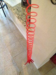 Slinky Bungee Jumping! Elf on the Shelf idea! LOL!