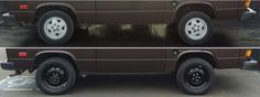 """Upgraded from 14"""" stock Vanagon mag wheels to 16"""" GoWesty steel wheels w/ Michelin Defender tires http://westfaliasforsale.com/gowesty-16-steel-wheels-tire-package-review/"""