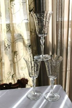Pottery & Glass Beautiful Bohemia Czech Heavy Crystal Frosted Rose Cut Leaves Elegant In Smell Art Glass