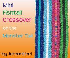 Mini Fishtail Crossover Bracelet - Reversible - Monster Tail - Rainbow Loom