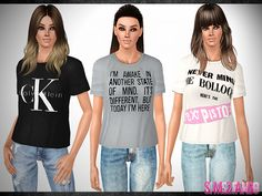 .:483 - Casual t-shirt:. Found in TSR Category 'Sims 3 Female Clothing'