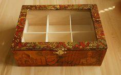 té caja carrito madera asia oriental Buda Taj-Mahal elefante madera decoupage naranja marrón indio motivos decorativos de ArtbyYany en Etsy https://www.etsy.com/es/listing/167681902/te-caja-carrito-madera-asia-oriental