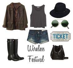 Wireless Festival by alex-hllnz on Polyvore featuring moda, Zara, Barbour, rag & bone, Hunter and Rachael Ruddick