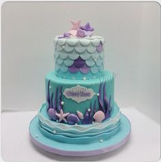 best Ideas for birthday cake mermaid ariel - birthday Cake White Ideen Little Mermaid Cakes, Mermaid Birthday Cakes, Little Mermaid Parties, Birthday Cake Girls, Birthday Ideas, 5th Birthday, Cupcakes, Cupcake Cakes, Decors Pate A Sucre