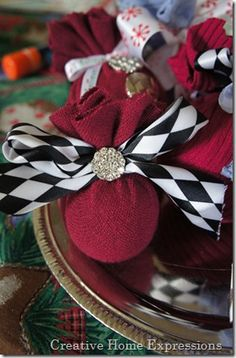 sweater covered ornaments