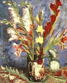 """Vase With Gladioli"" | Vincent van Gogh"