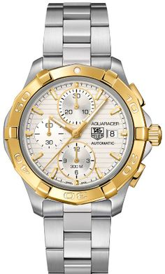 Genuine -Tag Heuer Aquaracer 42mm Automatic Chrono Divers Gold & Steel Watch - CAP2120.BA0833 - Free Overnight Shipping