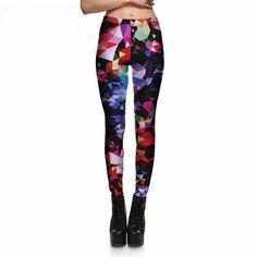 Colourful Geometry Debris Leggings //Price: $12.90 & FREE Shipping //     #womensfashion