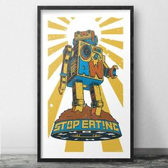 Tomas Menapace_Aceworks_STOP EATING CYBER SHIT poster.... more pics on _ https://www.behance.net/aceworksdesign