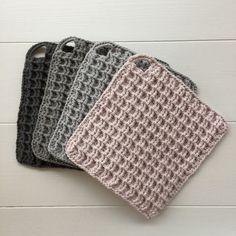 lilalu& getting ready for fall Crochet Potholders, Crochet Quilt, Crochet Motif, Knit Crochet, Knitting Patterns, Crochet Patterns, Knitted Washcloths, Crochet Home Decor, Crochet Kitchen