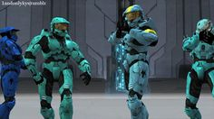 Of course caboose is standing backwards Master Chief And Cortana, Halo Armor, Rwby Red, Bubble Games, Achievement Hunter, Bubble Shooter, My Hero Academia 2, Red Vs Blue, Rooster Teeth