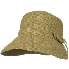 50083ae35d129 UPF 50+ Woman Cloche Slanted Self Tie Bow Hat - Tan Tweed W33S25C Jeanne  Simmons.  41.99