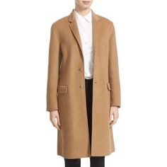 Women's Joseph 'Caversham' Double Face Wool & Cashmere Coat ($1,245) ❤ liked on Polyvore featuring outerwear, coats, camel, reversible coat, reversible wool coat, wool cashmere coat, beige coat and joseph's coat