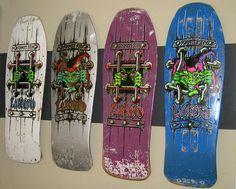 Great collection of Vintage 80's John Lucero Schmitt Stix boards and decks