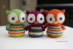 Crochet Baby Owls . ☀CQ #crochet #crafts #DIY.