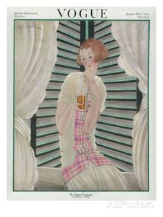 Vogue Cover - August 1922 Regular Giclee Print by Georges Lepape at AllPosters.com