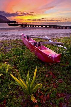 Hanalei Bay, Kauai, Hawaii pier by riczkho