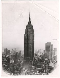 Empire State Building 20x16 NEW YORK CITY PHOTO ART PRINT Chris Bliss POSTER