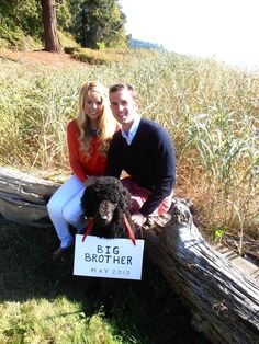 Cool idea. never having a kid or getting married for me though Baby Announcement - I like the dog idea