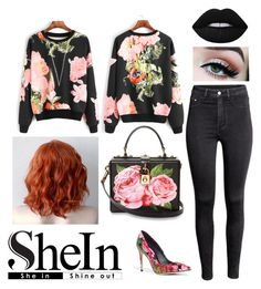 """""""🌹"""" by vlburke ❤ liked on Polyvore featuring Dolce&Gabbana, H&M and Lime Crime"""