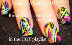 """neon nails"" ""stripe nails"" ""nail striping"" ""nails with stripes"" ""striped nails"" ""80's nails"" ""retro nails"" nails nail art 80's retro"
