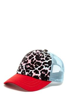 Leopard Trucker Hat..i dont do hats but i might actually rock the animal ab89043c4045