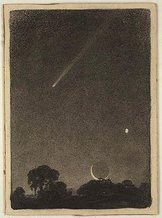 Elizabeth Shippen Green - Halley's comet at dawn, 1909