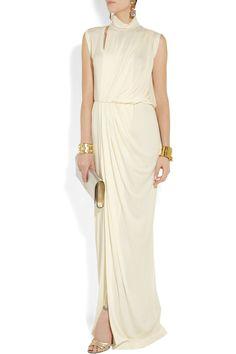 Vionnet Draped crepe gown NET-A-PORTER.COM