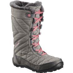 Children's Columbia Minx Mid Iii Omni-Heat Boot, Size: 7 M, Stratus/Camellia Rose Tall Boots, Snow Boots, Black Boots, Columbia Sportswear, Faux Fur Collar, Fur Collars, Warm Down, Kids Boots, Skinny