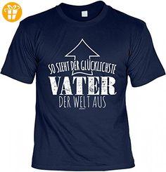 T-Shirt Papa - So sieht der glücklichste Vater der Welt aus - Geschenk Idee Humor zum Vatertag Geburtstag - navyblau, Größe:4XL (*Partner-Link)