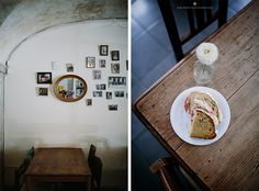 Cafe Tati (Rua Ribeira Nova - located in front of the Ribeira Market has a Portuguese relaxed vibe. It's good for a late breakfast or relaxed afternoon. Bakery Cafe, Cafe Restaurant, Lisbon Guide, Interior Inspiration, Gallery Wall, Portuguese, Eat, Breakfast, Travelling