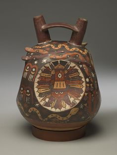 Later 'Proliferous' pottery of the ancient Nazca culture of Peru