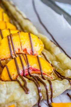 Peach and Nutella Pastry Puffs from The Food Charlatan